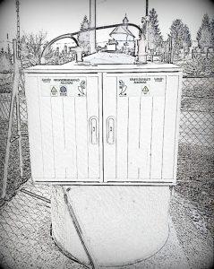 Adogalóállomás rajzos kép